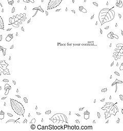 Hand drawn autumn frame.