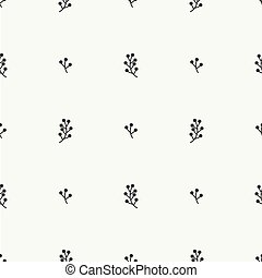 Hand drawn autumn seamless pattern made of berries. Wrapping paper. Abstract vector background. Floral illustration. Graphic style. Fall print. Doodle art elements. For printing onto fabric.