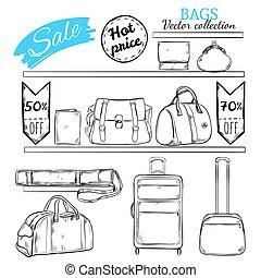 Hand Drawn Bag Shop Concept