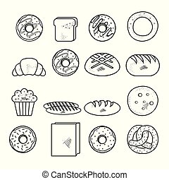 Hand drawn bakery goods design