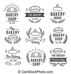 Hand Drawn Bakery Label Set