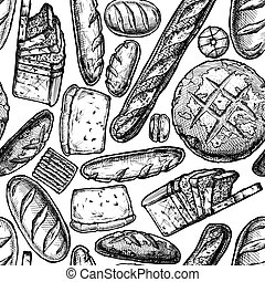 Hand drawn Bakery products