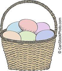 Hand-drawn basket