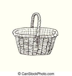 hand drawn basket