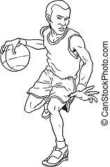 hand drawn basketball boy