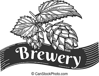 hand drawn beer emblem