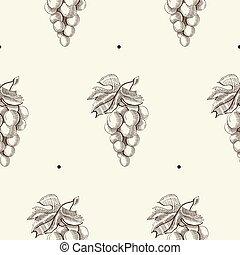 Hand Drawn Berry Seamless Pattern