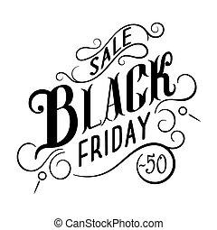 Black Friday Sale Calligraphic Design.