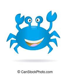 Hand Drawn Blue Crab - Cute hand drawn blue crab isolated on...