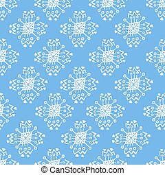 Hand drawn blue pattern with doodle elements
