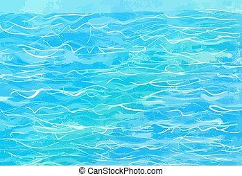 hand-drawn blue water background