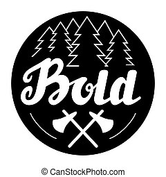 Hand drawn Bold lettering logo, badge or label. - Hand drawn...