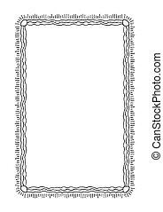 hand drawn border-14 - Hand drawn border isolated on white ...