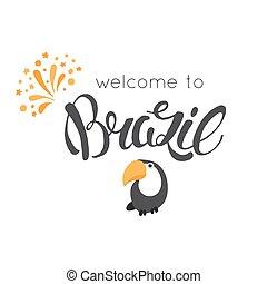 Hand drawn Brazil lettering