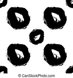 Hand drawn brush ink grunge black and white seamless textures. Artwork with abstract background