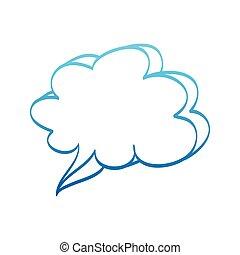 Hand drawn bubble dialog vector icon illustration