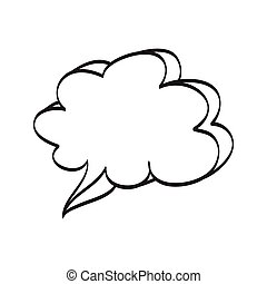 Hand drawn bubble dialog vector icon illustration