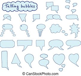 Hand drawn bubbles set