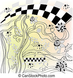 hand-drawn, bunte, hintergrund
