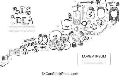 Hand Drawn Business Concept