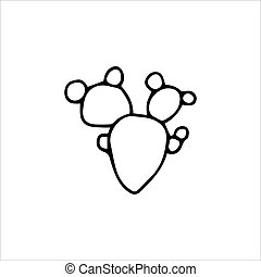 Hand drawn cactus isolated on a white background. Vector illustration