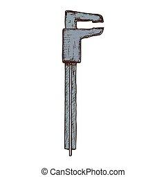 Hand drawn calipers tool