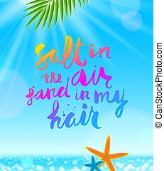Summer holidays and vacation vector illustration.