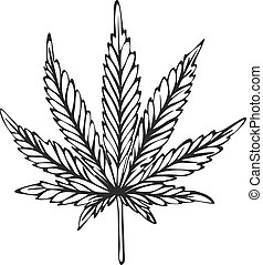 Hand drawn cannabis sketch