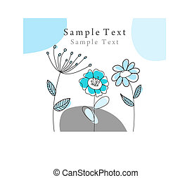 Hand drawn infant card for design use