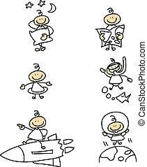 hand-drawn cartoon character