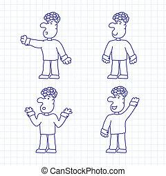 Hand Drawn Cartoon Characters