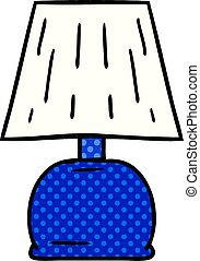 cartoon doodle of a bed side lamp