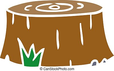 cartoon doodle of a tree log