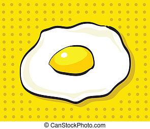 Hand-Drawn Cartoon Egg