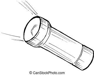 metallic flashlight