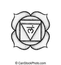 hand drawn chakra Muladhara illustration