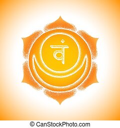 hand drawn chakra Svadhishthana illustration - Vector second...