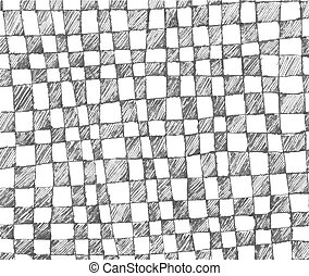 Hand drawn checkered pattern