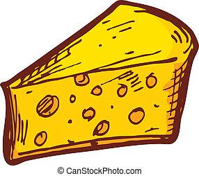 hand drawn cheese