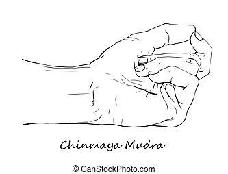 Hand drawn Chinmaya Mudra - Chinmaya Mudra. Hand drawn...