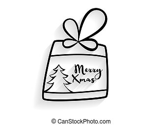 hand drawn christmas gift background
