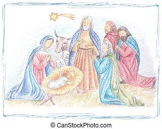 Hand drawn Christmas illustration