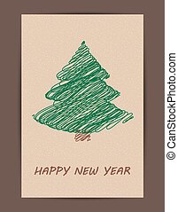 Creative Christmas tree card.