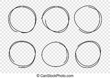 Hand drawn circle frame set