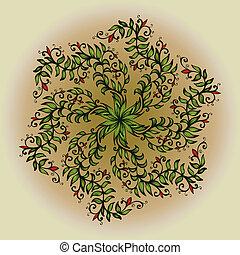 Hand drawn circular ornament