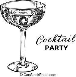 Hand drawn cocktail