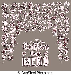 hand drawn coffee icons
