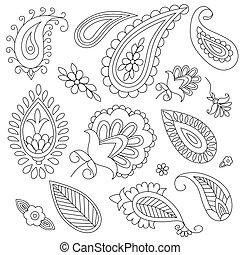 hand-drawn, communie, paisl, ethnische
