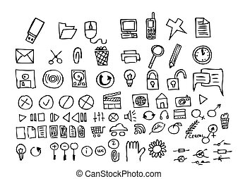 hand drawn computer icons