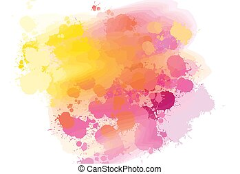 hand-drawn, couleurs, fond, eclabousse
